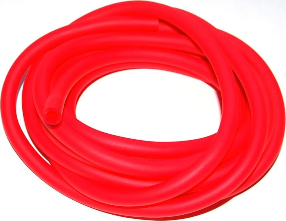Эспандер латексная трубка (жгут) In-Sports 07682, красная, диаметр 9мм, длина 3м