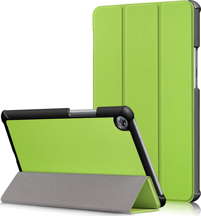 Чехол-обложка MyPads для Acer Iconia One B3-A10 / B3-A11 10.1/ Android 5.1 NT.LB6EE.003 MediaTek MT8151 1.7 GHz тонкий умный кожаный на пластиковой основе с трансформацией в подставку зеленый