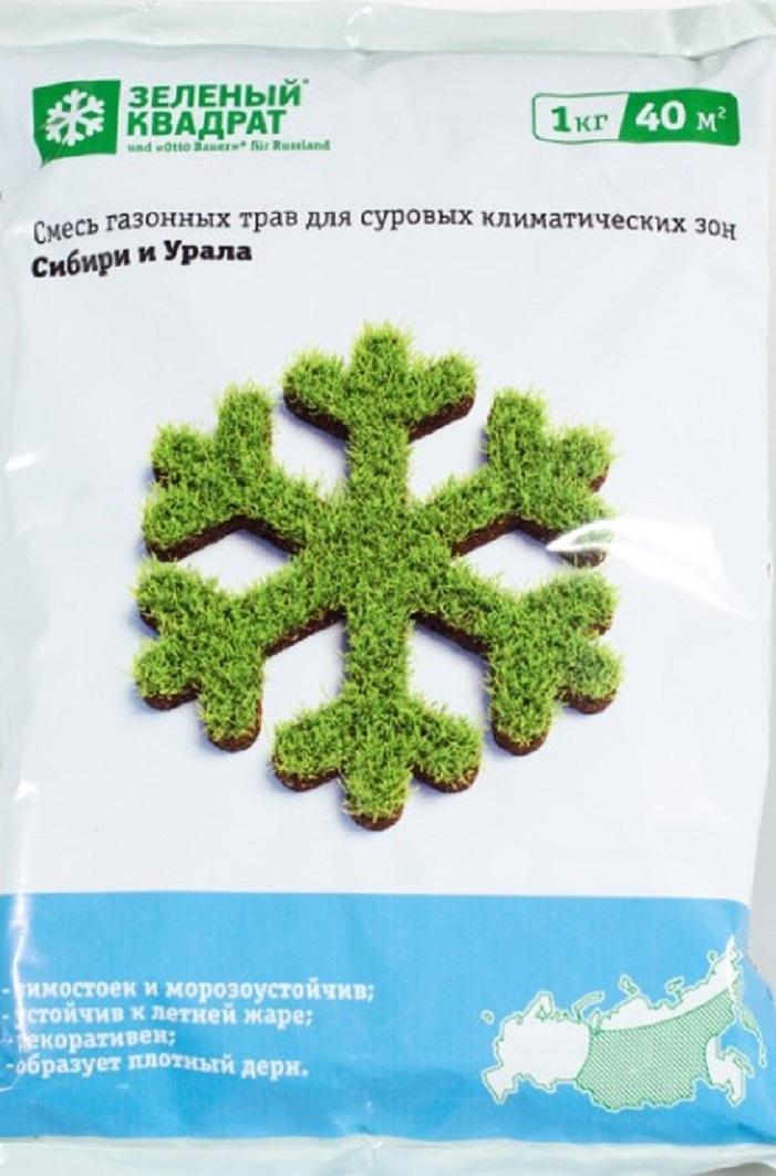 Газон Зеленый квадрат для Сибири и Урала 1кг