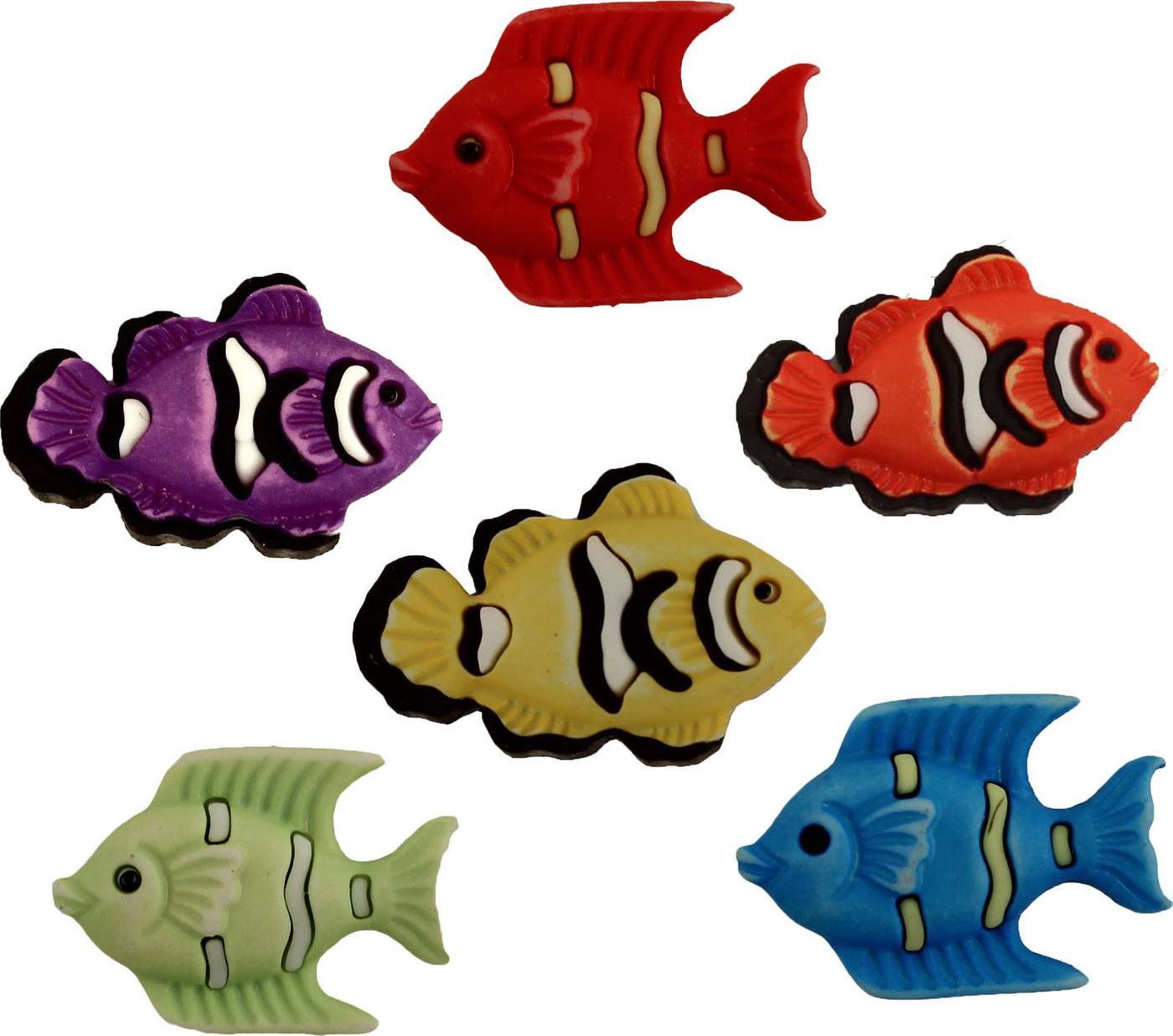 Пуговицы Buttons Galore пластиковые декоративные Exotic Fish