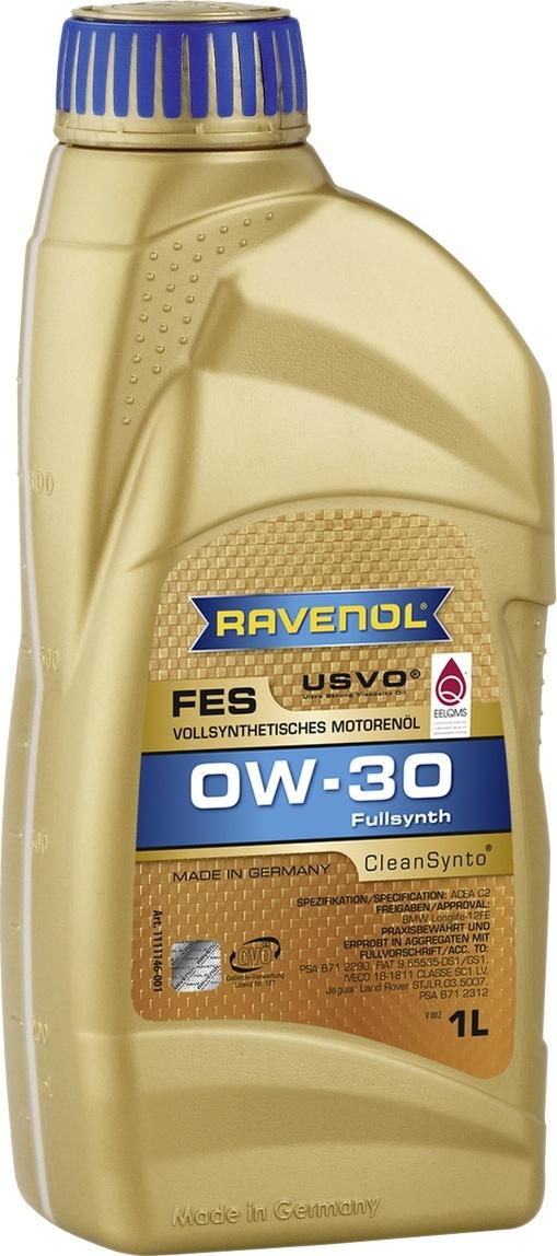 Моторное масло RAVENOL FES SAE 0W-30 (1 л)