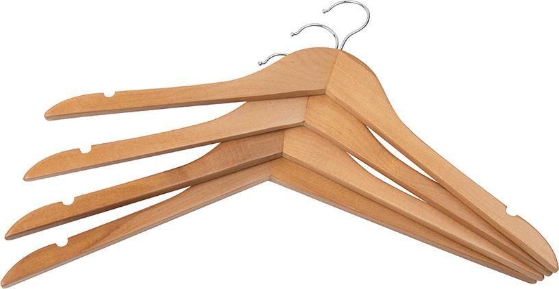 Купить Набор вешалок 4 шт. 45х1,2х21 см EL Casa Светлый орех без перекладины на XWAP.SU