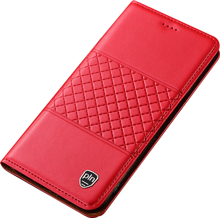 Чехол-книжка MyPads для Huawei Honor 10i / Enjoy 9S / P Smart Plus 2019  из натуральной кожи буйвола с элегантной стеганой прошивкой премиум-класса и магнитной крышкой красный