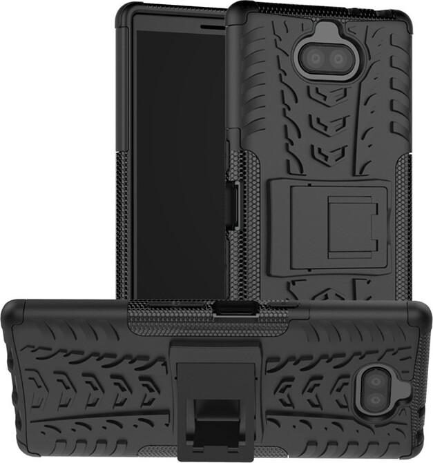 Чехол-бампер MyPads для Sony Xperia 10 Plus противоударный усиленный ударопрочный черный