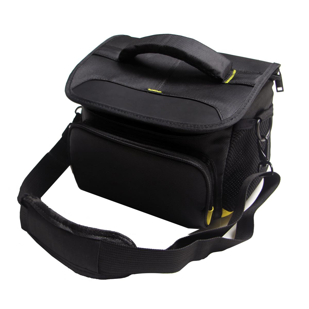 Чехол-сумка MyPads TC-1230 для фотоаппарата Nikon D5500 COOLPIX B500 B700L105 из качественной износостойкой влагозащитной ткани черный