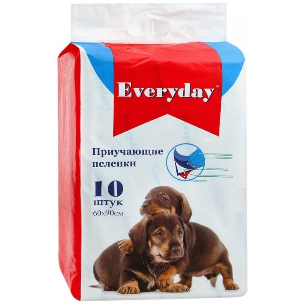 Пеленки для животных Everyday, впитывающие гелевые, 60*90см, 10шт, 835 гр