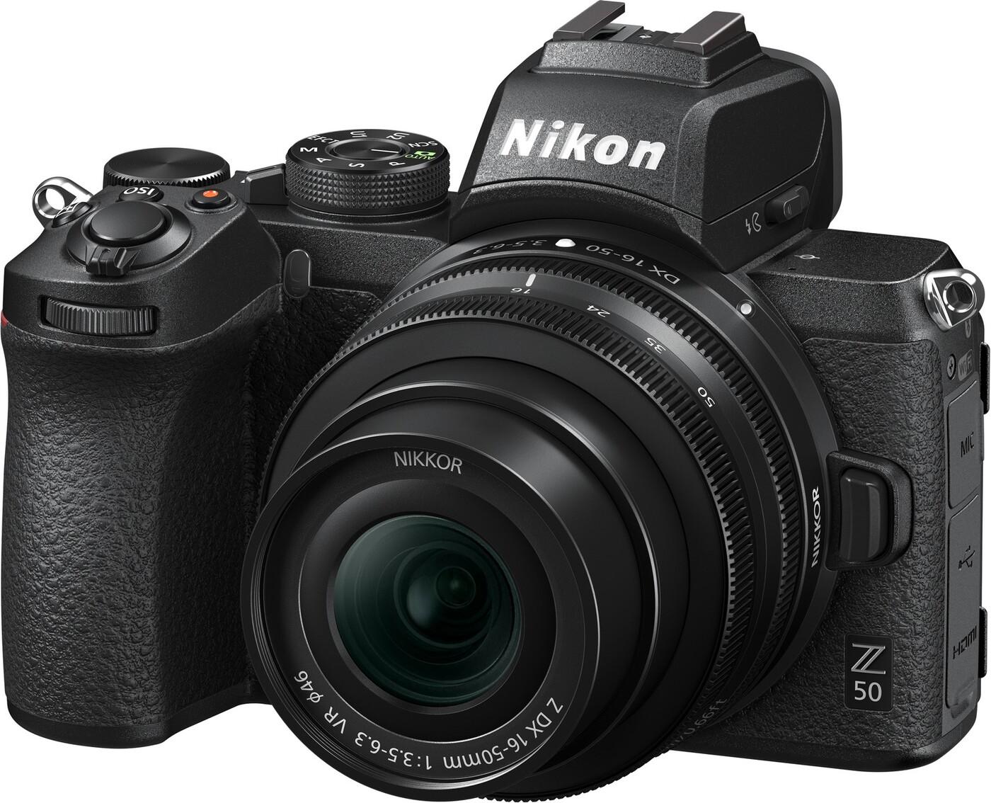 Беззеркальный фотоаппарат Nikon Z50 16-50 f/4.5-6.3 VR, черный
