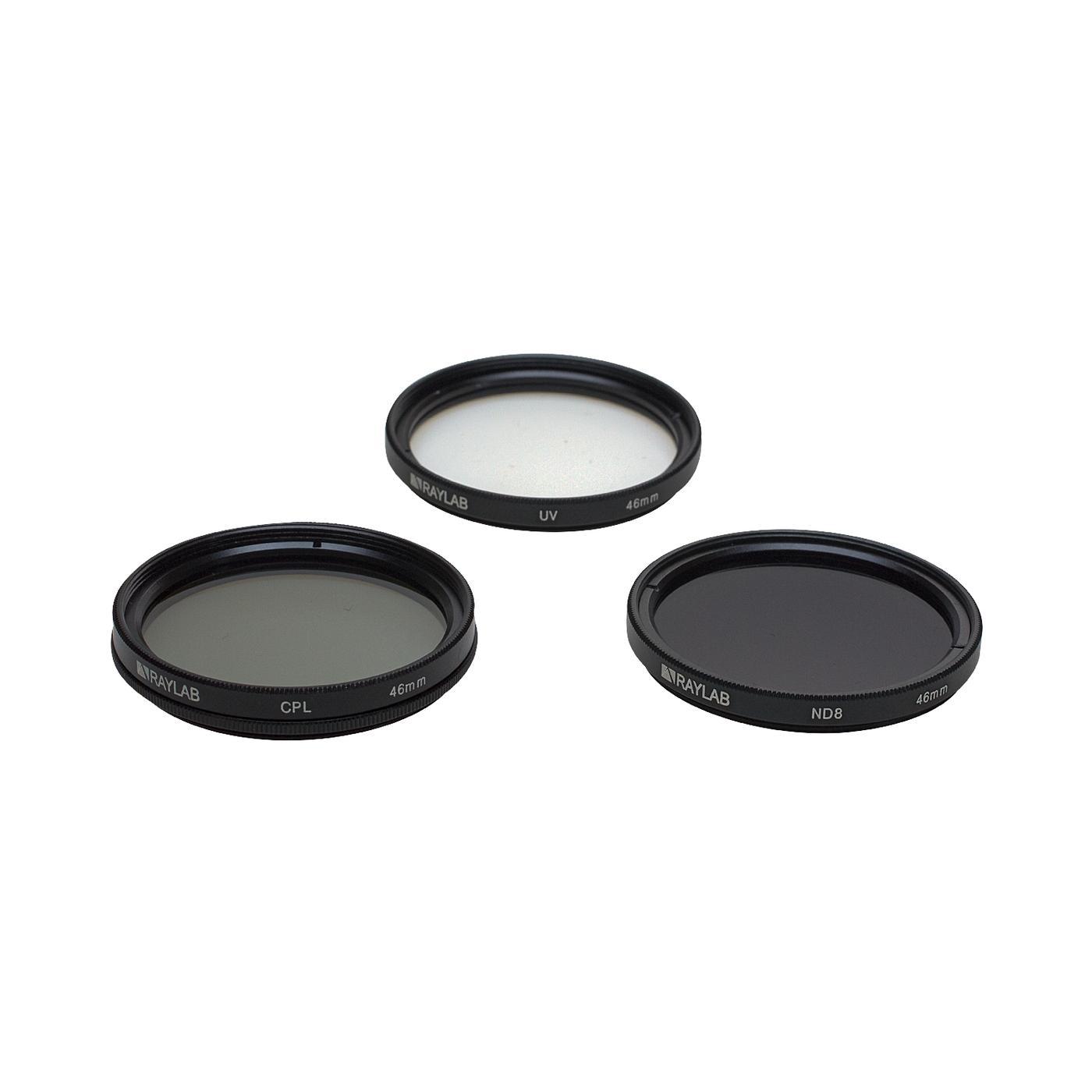 Набор из 3 фильтров RayLab (UV,CPL,ND8) 46mm