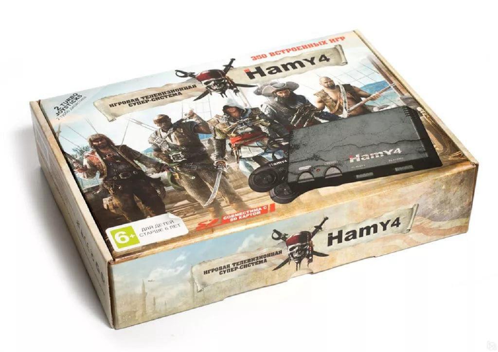 Игровая приставка HAMY. Это Денди и Сега 2 в 1 + 350 игр. Assassins Creed