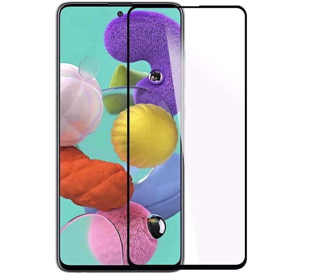 Защитное стекло для Samsung Galaxy A71, черное