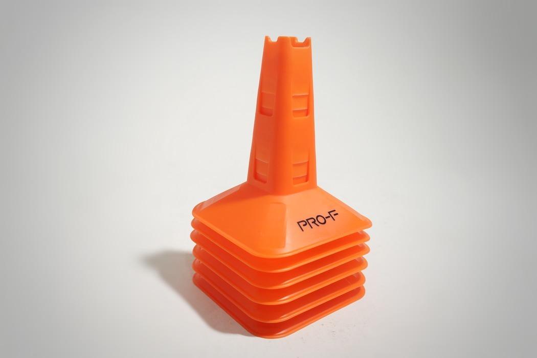 Конусы тренировочные Agility Cones PRO-F оранжевый неон
