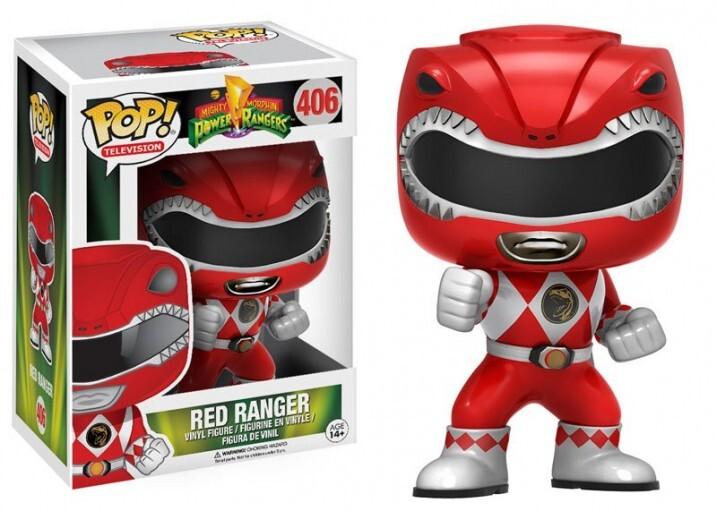 Фигурка Funko Pop! Mighty Morphin: Power Rangers: Metalic Red Ranger #406