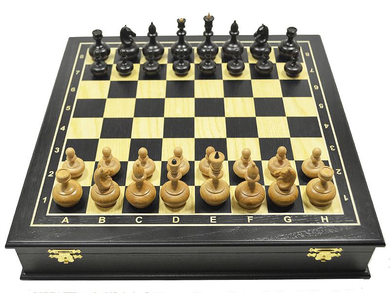 Ларец Шахматный Bona Farbo Черный принц эксклюзивный средний