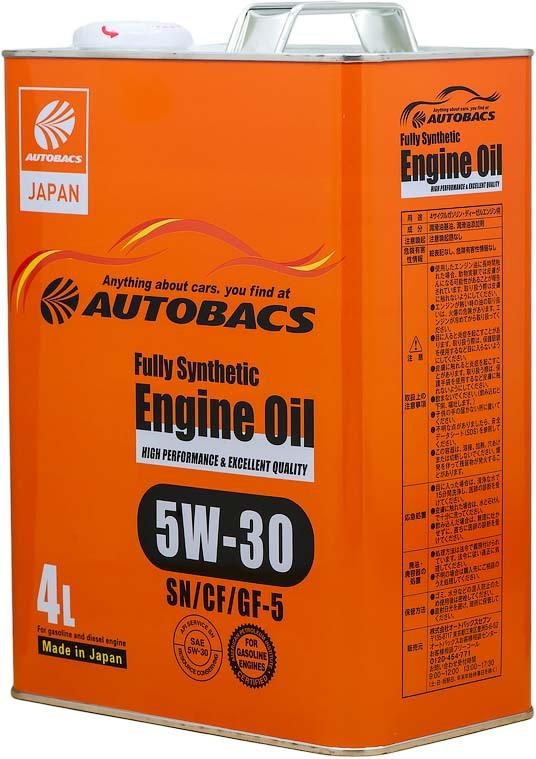 Моторное масло Autobacs ENGINE OIL SAE API SN/CF ILSAC GF-5 FULLY SYNTHETIC 5W-30 Синтетическое 4 л  #1