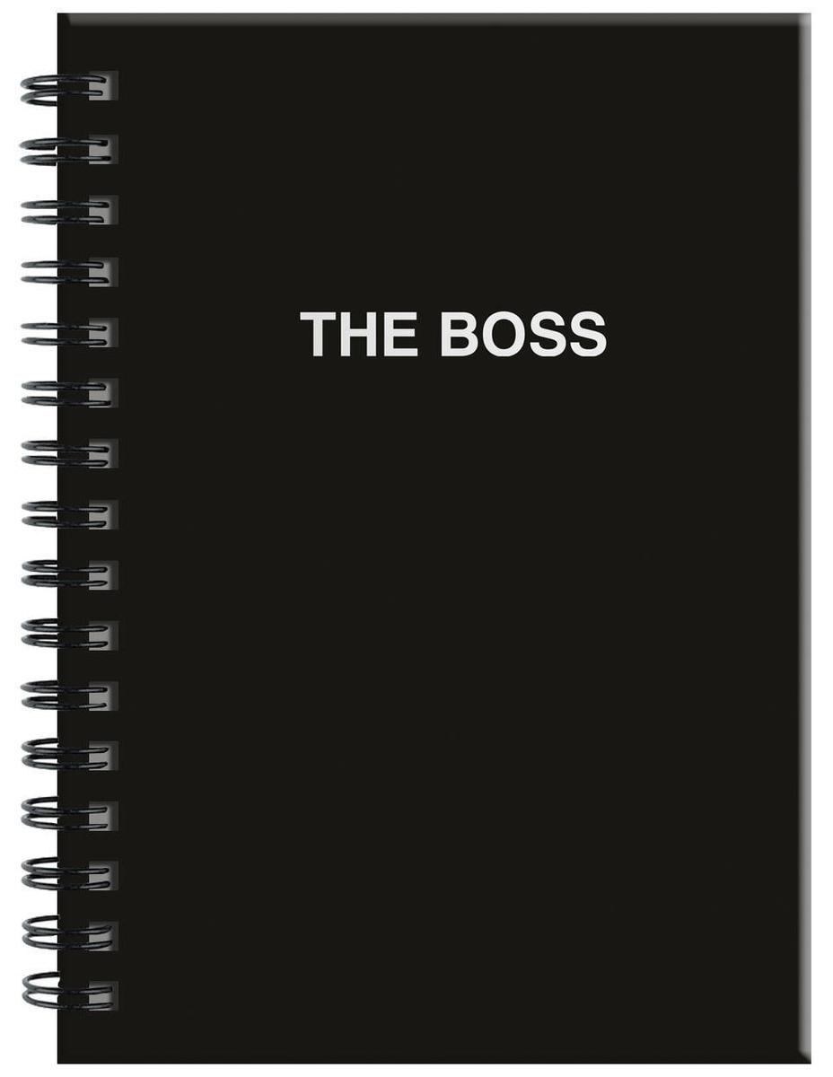 (2019)Ежедневник The boss (черный). А5, твердый переплет на навивке, золотая матовая фольга, 224 стр. #1