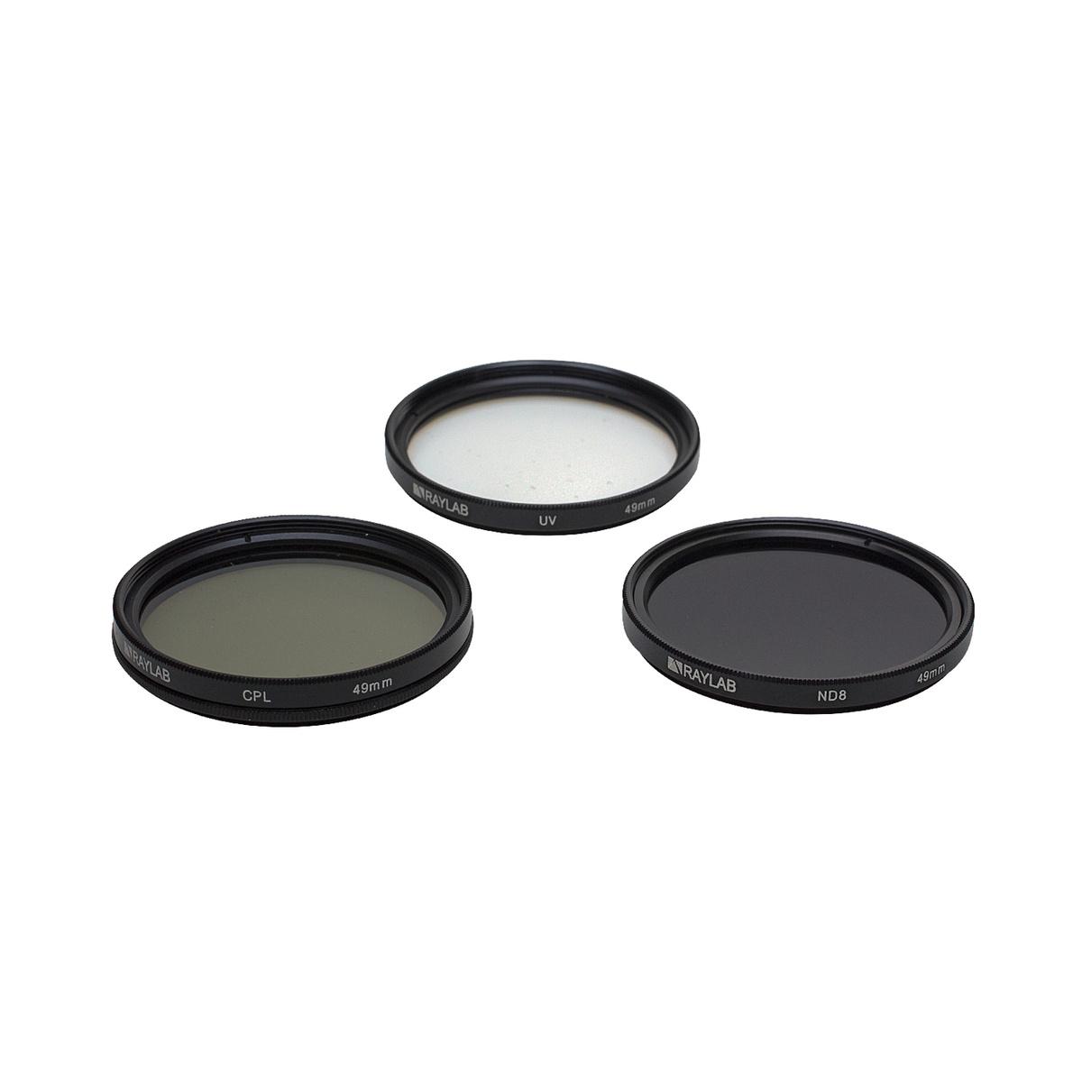 Набор из 3 фильтров RayLab (UV,CPL,ND8) 49mm #1