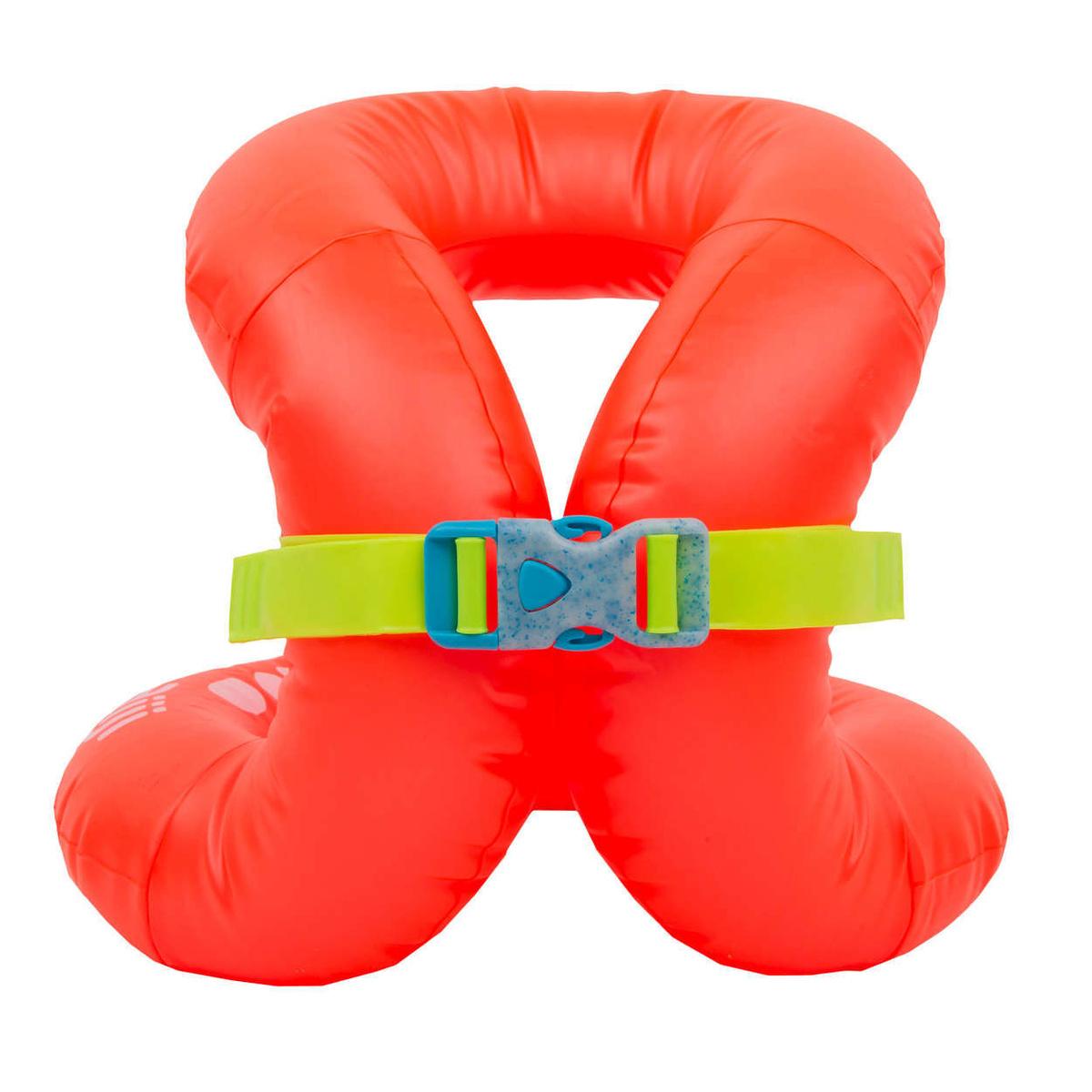 Жилет плавательный надувной оранжевый (для веса 18-30 кг) NABAIJI Х Декатлон  #1