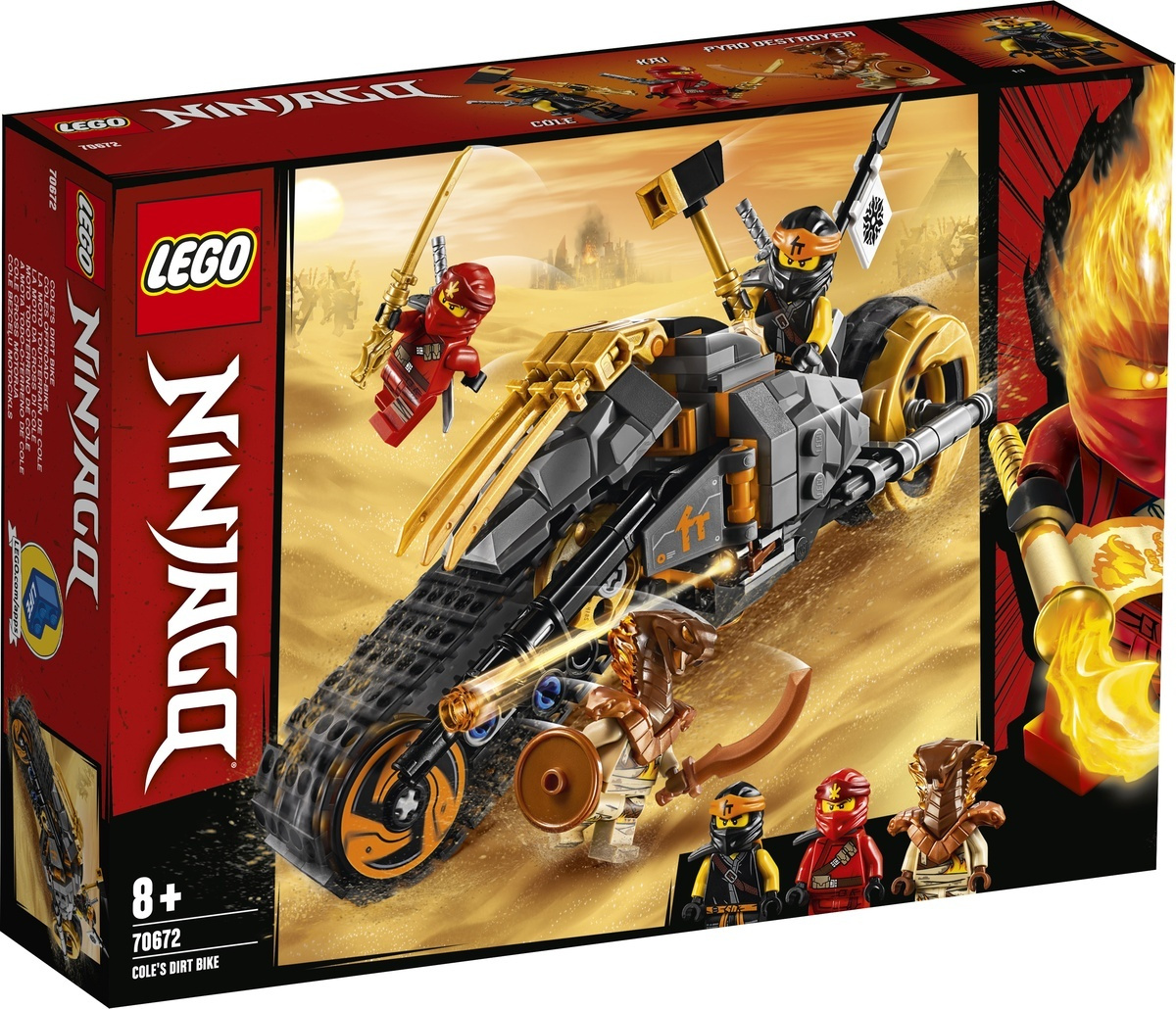 Конструктор LEGO NINJAGO 70672 Раллийный мотоцикл Коула #1