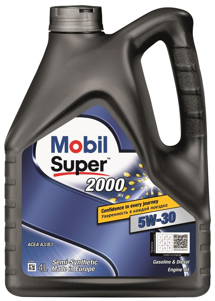 Моторное масло MOBIL SUPER 2000 X1 5W-30 Полусинтетическое 4 л #1