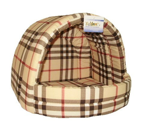 Мягкий домик Лежанка для собак эстрада № 2 шотландка светлая 44 х 40 х 36 см  #1