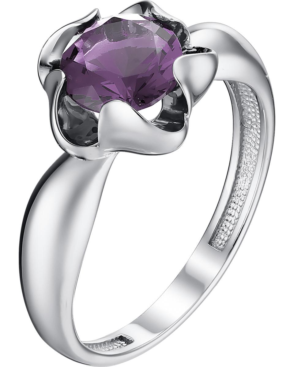Кольцо Алькор из серебра с аметистом 01-1124/00АМ-00 #1