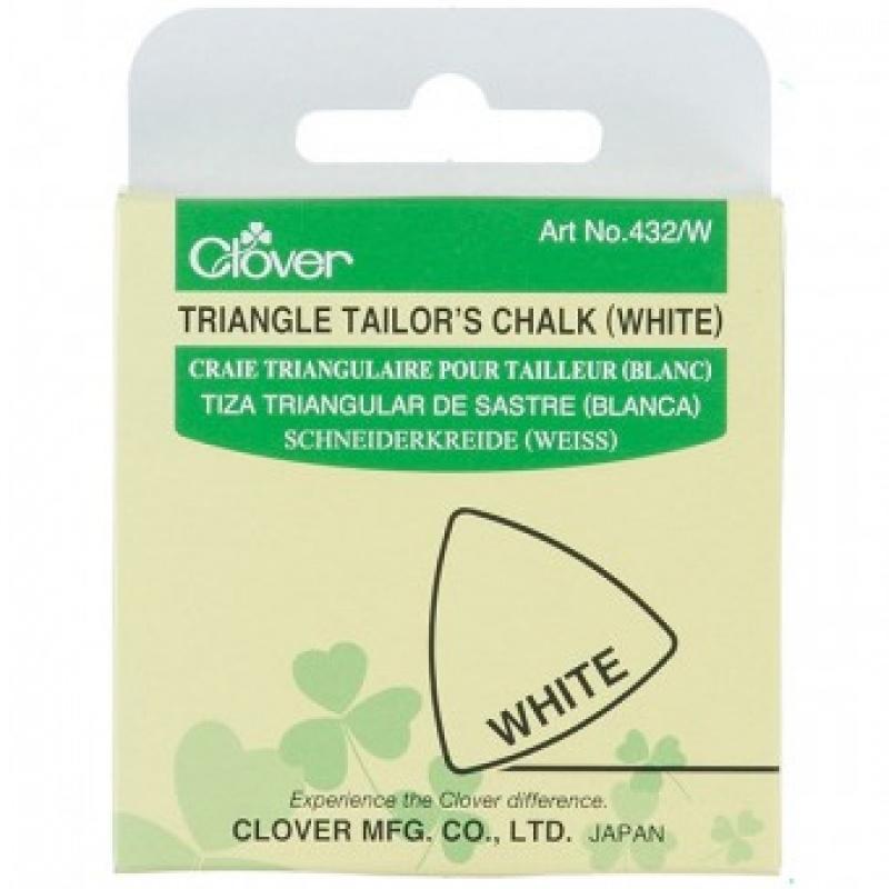 Мел Clover портновский треугольный (белый) (8,4 x 6,5 x 1 см. артикул 432/W)  #1