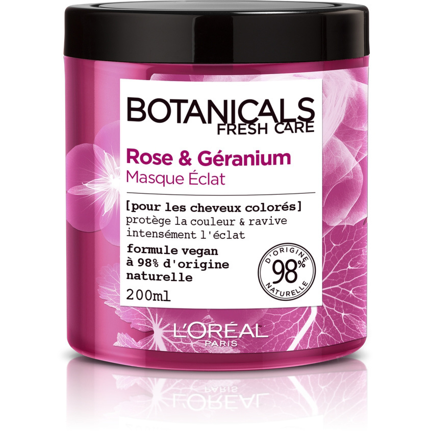 """L'Oreal Paris Маска для волос """"Botanicals, Роза, Герань"""", для окрашенных и тусклых волос, придает блеск, #1"""