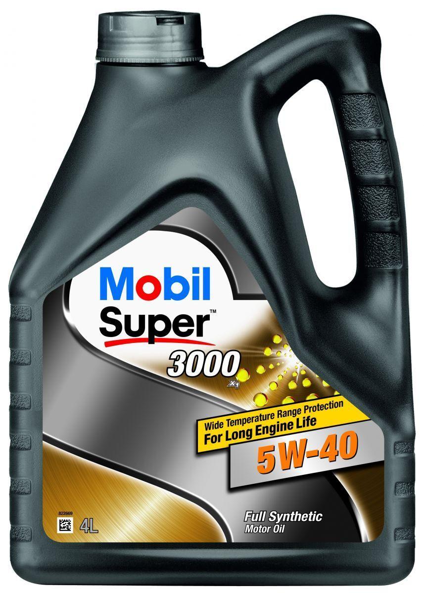 Моторное масло MOBIL SUPER 3000 X1 5W-40 Синтетическое 4 л #1