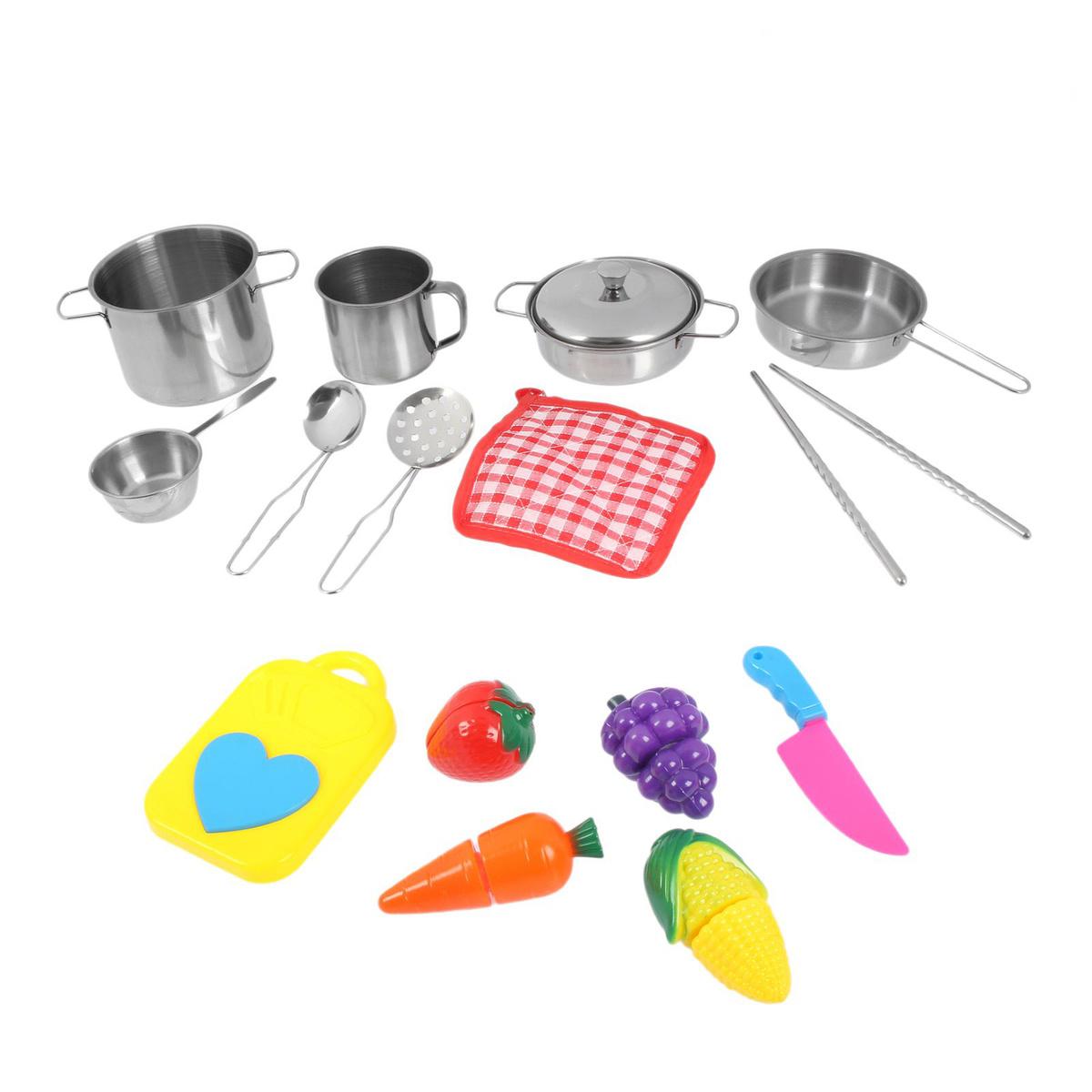 """Игровой набор металлической посуды """"Повар"""" 15 предметов #1"""