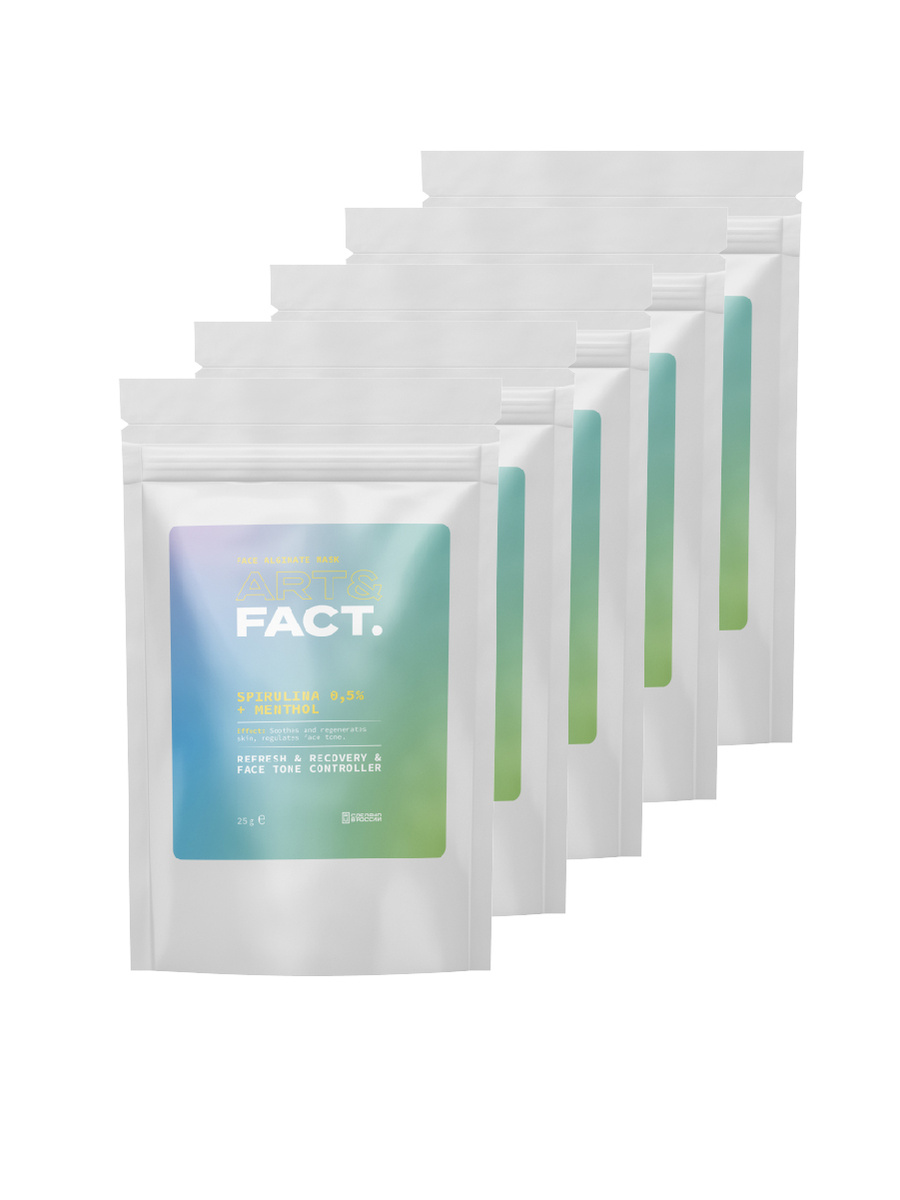 ART&FACT. Набор альгинатных успокаивающих крио-масок для комплексного ухода за кожей лица, 5 штук  #1