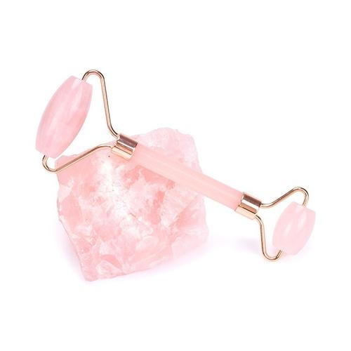 роллер для лица из камня розовый кварц
