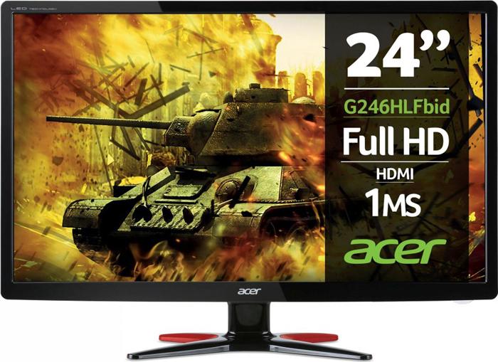 24 Монитор Acer, G246HLFbid, UM.FG6EE.F01 монитор acer k222hqldb черный