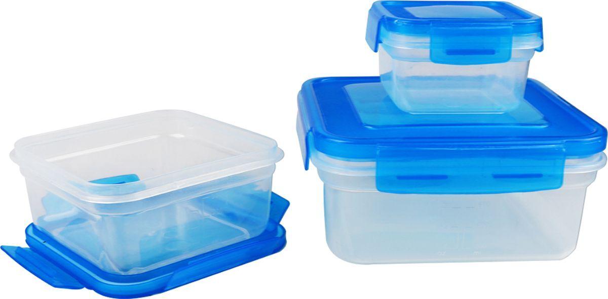 Набор контейнеров Bohmann, 082BH, голубой, 3 шт