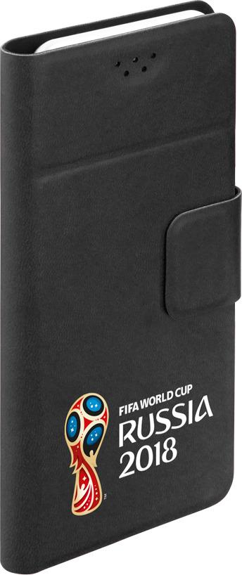 Чехол универсальный Wallet для смартфонов 5,5-5,7, FIFA Official Emblem 2, черный, Deppa чехол fifa 2018 official emblem white для samsung a5