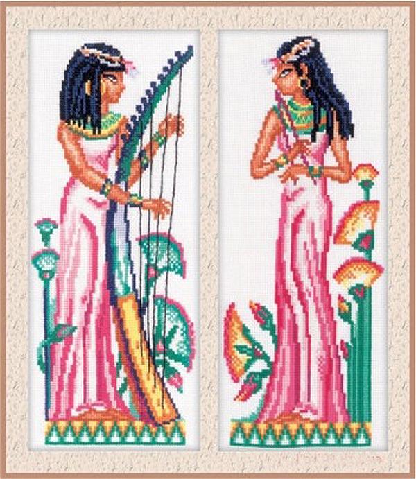 Набор для вышивания РТО Египтянки 2 (10,5 х 25 см.) набор для вышивания крестом рто 4 8 х 7 см fa015
