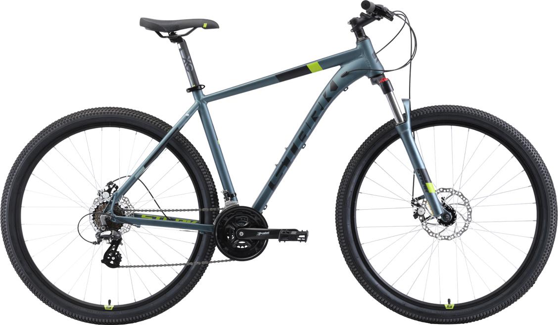 Велосипед STARK Router 29.3 D 2019 20 серый/чёрный/зелёный