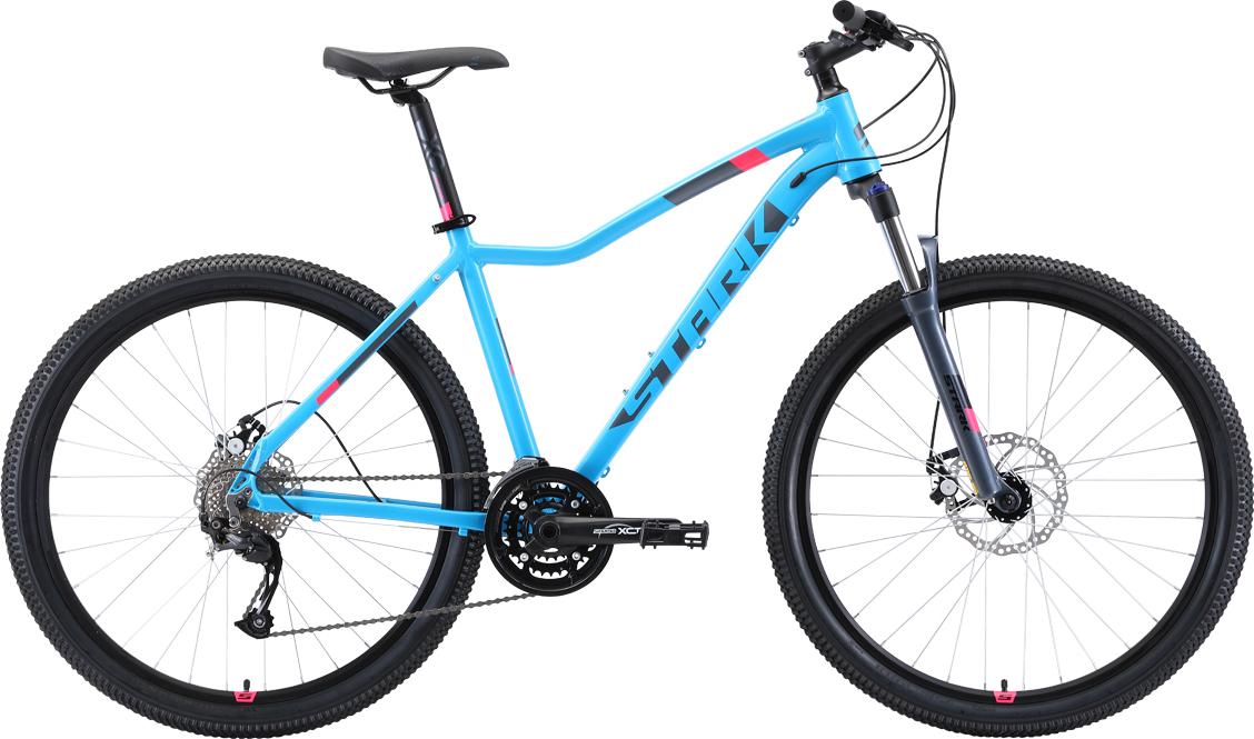 Велосипед STARK Viva 27.4 D 2019 18 голубой/серый/розовый
