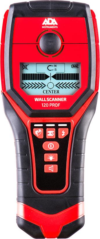 Детектор проводки ADA Wall Scanner 120 PROF детектор проводки ada wall scanner 120 prof а00485
