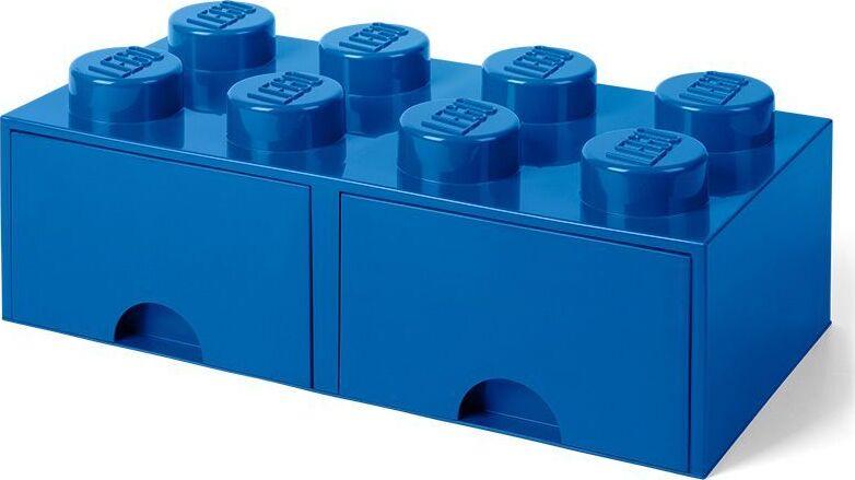 Ящик для хранения 8 выдвижной LEGO синий