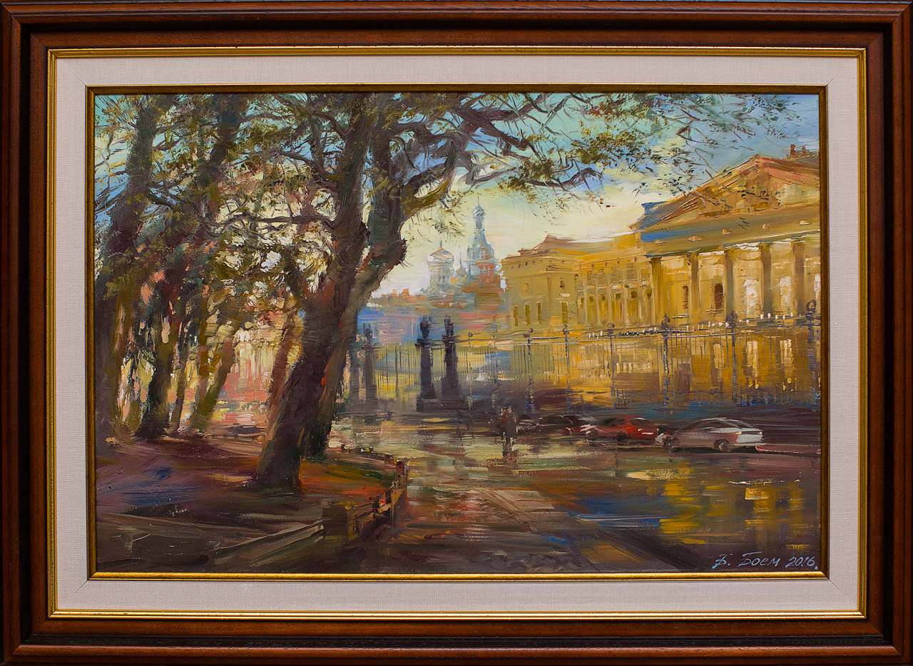 Картина маслом Инженерная улица Боем картина маслом владимирский собор боем