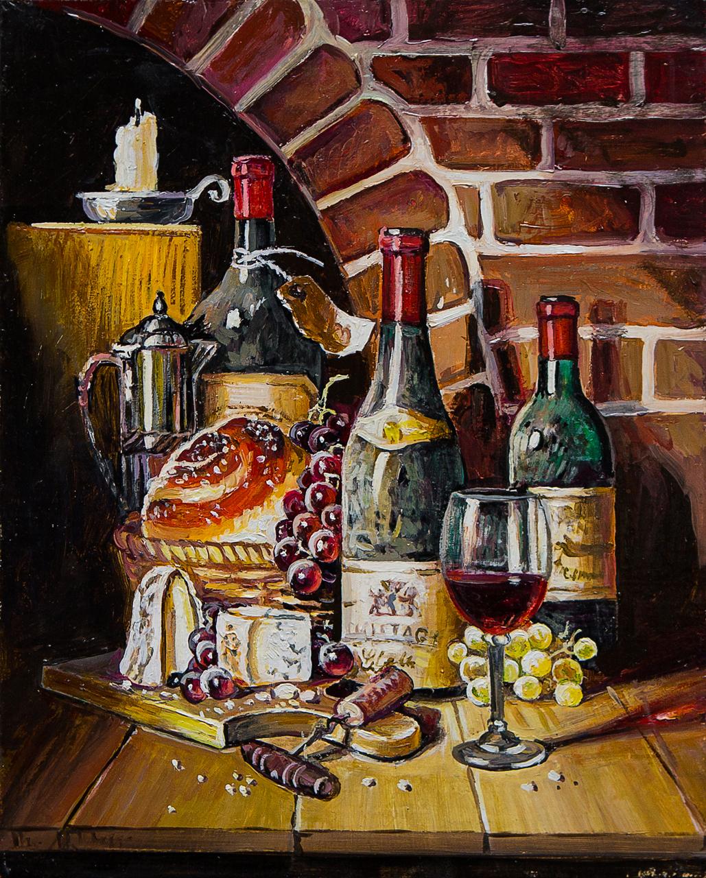 Картина маслом Старое вино Воробьёв картина маслом гуляки воробьёв