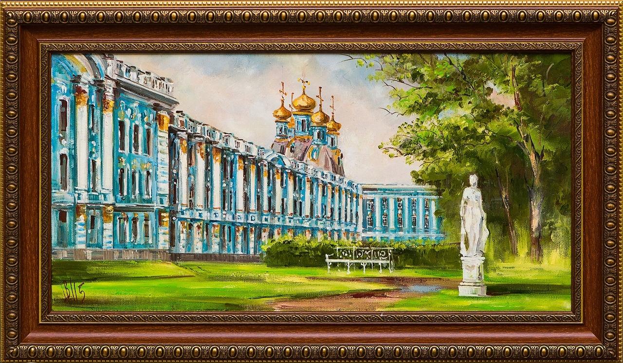 Картина маслом Царское Село Шеренкова картина маслом шумный город шеренкова