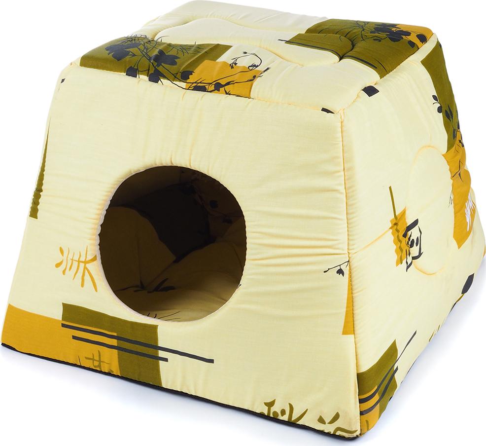 Домик для животных Лежачок Д-009.25, 40 х 40 х 30 см домик для животных pride ватсон цвет салатовый 40 х 40 х 40 см 10031151
