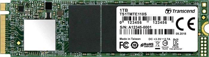 Твердотельный накопитель 1Tb SSD Transcend MTE110, TS1TMTE110S внешний твердотельный диск ssd transcend esd400