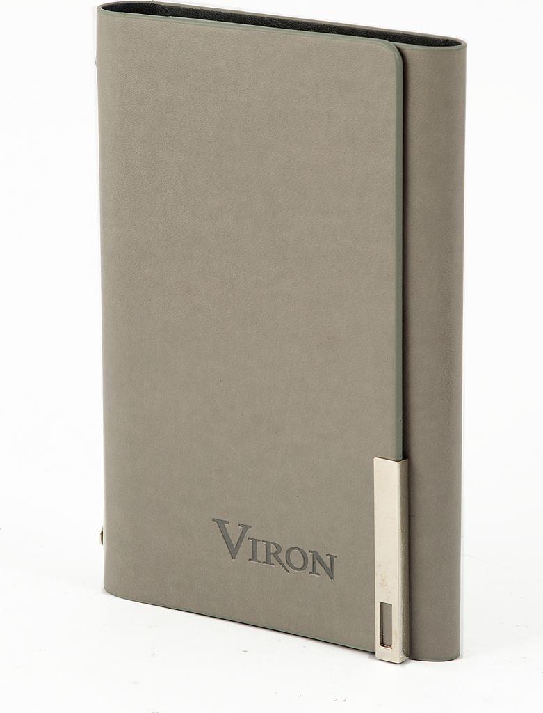 Ежедневник Viron, недатированный, 82719, серый, 80 листов