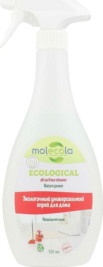 Универсальный спрей для дома Molecola Nature Power, экологичный, 500 мл очищающий спрей molecola emerald forest для ванной комнаты экологичный 500 мл