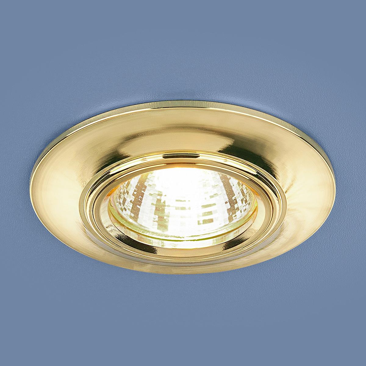 Встраиваемый светильник Elektrostandard Точечный 7007 MR16 GD, G5.3 светильник встраиваемый escada milano gu5 3 001 gd