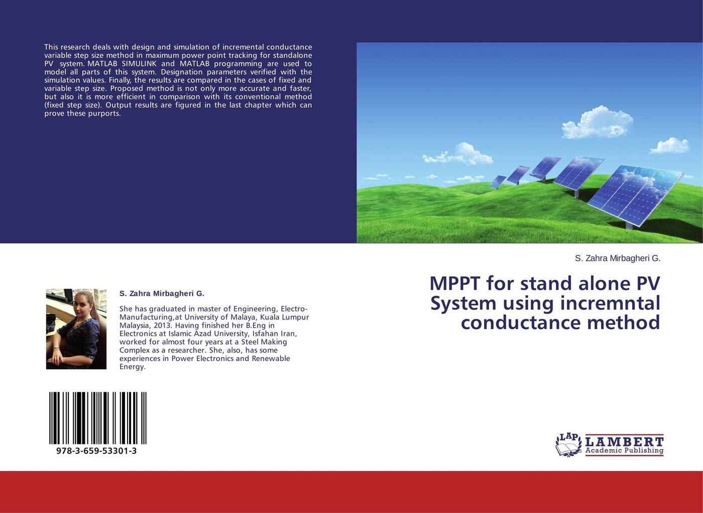S. Zahra Mirbagheri G. MPPT for stand alone PV System using incremntal conductance method mppt for stand alone pv system using incremntal conductance method