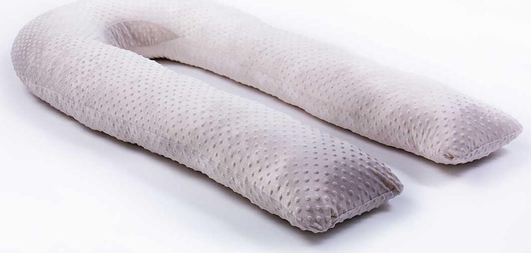 Серебряная наволочка Minky на подушку для беременных MommyPillow U 360 см