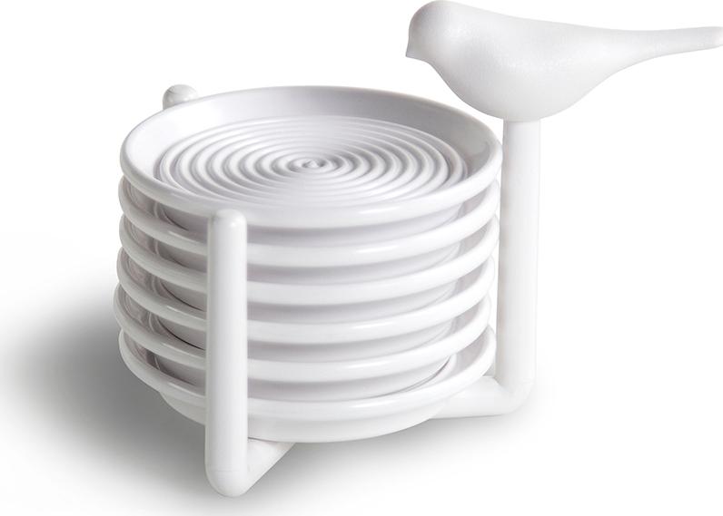 Фото - Набор подставок под чашки Qualy Sparrow, белый [супермаркет] jingdong геб scybe фил приблизительно круглая чашка установлена в вертикальном положении стеклянной чашки 290мла 6 z